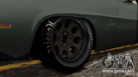 Chevrolet Camaro Drag Street para GTA San Andreas vista posterior izquierda