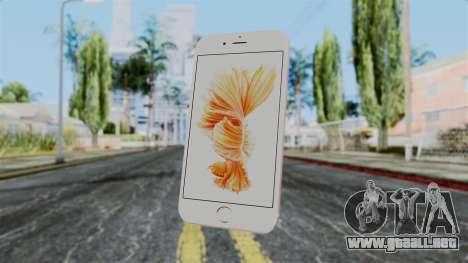 iPhone 6S Rose Gold para GTA San Andreas tercera pantalla