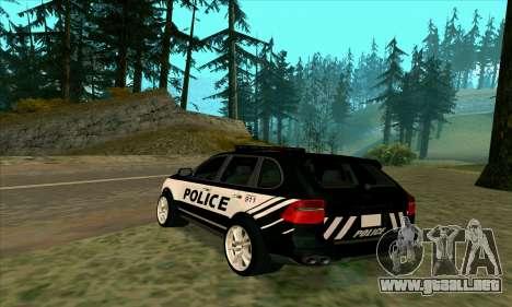 Porsche Cayenne Turbo S Federal Police para GTA San Andreas left