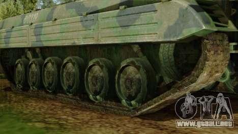 CoD 4 MW 2 BMP-2 Woodland para GTA San Andreas vista posterior izquierda