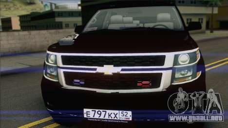 Chevrolet Suburban FSB para GTA San Andreas vista posterior izquierda