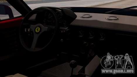 Ferrari F40 1987 without Up Lights HQLM para la visión correcta GTA San Andreas