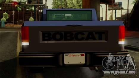Bobcat from Vice City Stories IVF para vista inferior GTA San Andreas