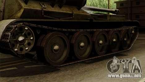 SU-101 122mm from World of Tanks para GTA San Andreas vista posterior izquierda