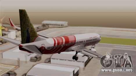 Boeing 737-800 Air India Express para GTA San Andreas left