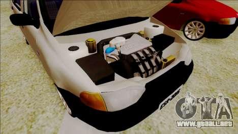 Fiat Palio EDX Turbo Rendimiento para GTA San Andreas vista hacia atrás