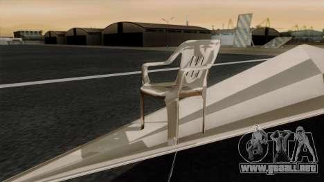 Avión de papel para GTA San Andreas vista posterior izquierda