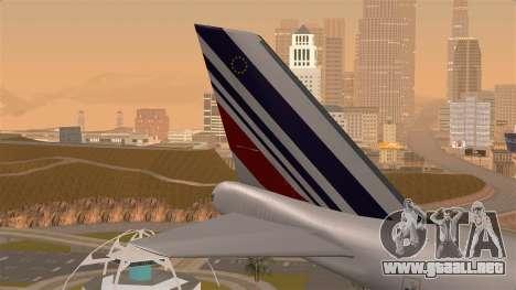 Boeing 747 Air France para GTA San Andreas vista posterior izquierda