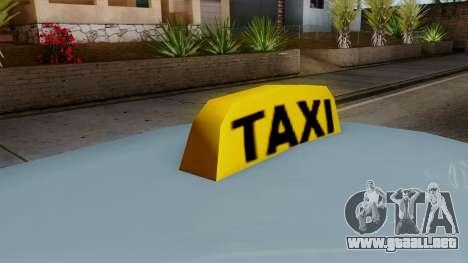 Taxi Solair para GTA San Andreas vista posterior izquierda