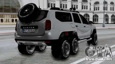 Dacia Duster Terranger 6x6 para GTA San Andreas left
