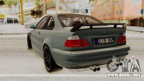 BMW M3 E46 GTR 2005 Stock para GTA San Andreas left