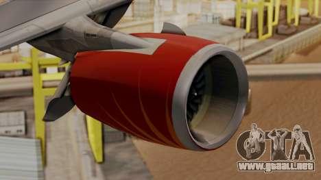 Airbus A380-861 Air India para la visión correcta GTA San Andreas