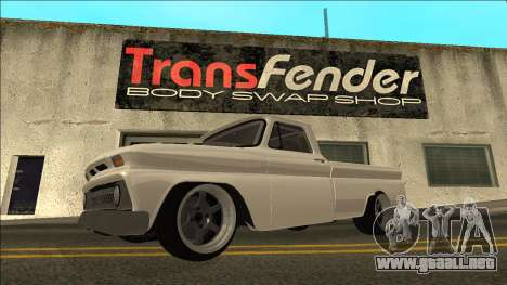 Chevrolet C10 Drift para GTA San Andreas left