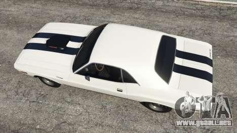 GTA 5 Dodge Challenger RT 440 1970 v1.0 vista trasera