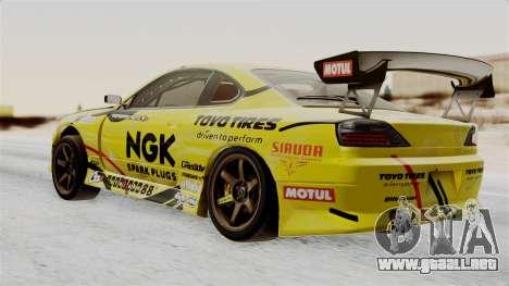 Nissan Silvia S15 RDS NGK para GTA San Andreas left