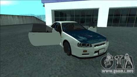 Nissan Skyline R34 Drift para el motor de GTA San Andreas