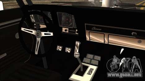Chevrolet Camaro Drag Street para GTA San Andreas vista hacia atrás