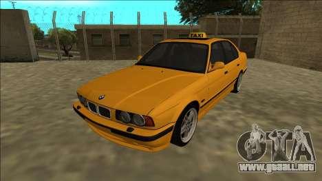 BMW M5 E34 Taxi para GTA San Andreas vista posterior izquierda