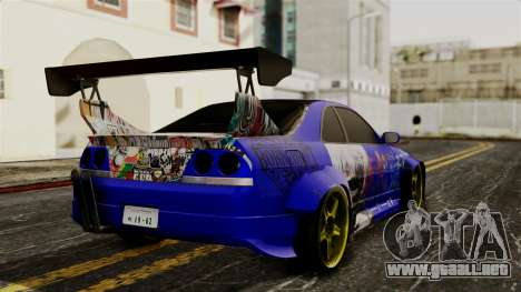 Nissan Skyline R33 Widebody Itasha para GTA San Andreas left