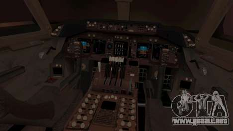 Boeing 747 Air France para visión interna GTA San Andreas