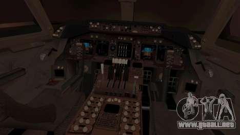 Boeing 747 Air France para visión interna GTA San Andreas