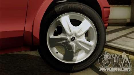 Opel Corsa para GTA San Andreas vista posterior izquierda
