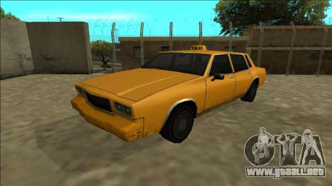 Tahoma Taxi para GTA San Andreas vista posterior izquierda