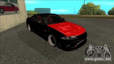 Nissan Skyline R33 Monster Energy para GTA San Andreas left