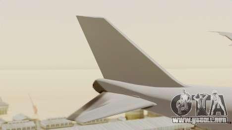 Boeing 747 Template para GTA San Andreas vista posterior izquierda