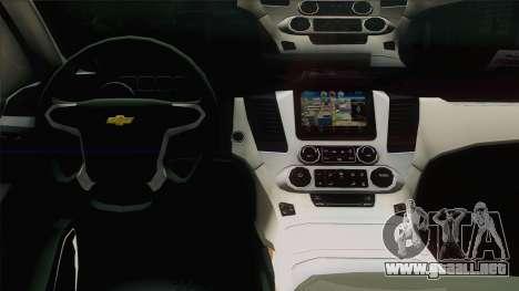 Chevrolet Suburban FSB para visión interna GTA San Andreas