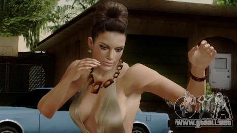 RE5 Excella Gione para GTA San Andreas