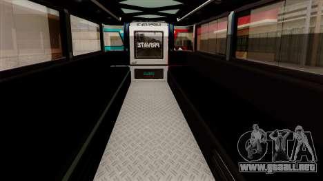 Auto Pormado - Gabshop Custom Jeepney para GTA San Andreas vista hacia atrás