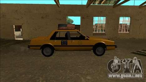 Willard Taxi para visión interna GTA San Andreas
