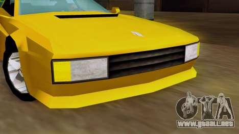 Cheetah from Vice City Stories IVF para GTA San Andreas vista hacia atrás
