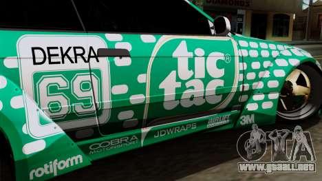 BMW M3 E36 Tic Tac para GTA San Andreas vista hacia atrás