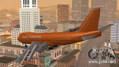 Boeing 747 Braniff para GTA San Andreas left