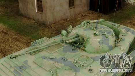 CoD 4 MW 2 BMP-2 Woodland para GTA San Andreas vista hacia atrás