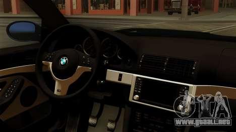 BMW M5 E39 Bucharest para la visión correcta GTA San Andreas