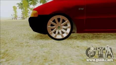 Fiat Palio EDX Turbo Rendimiento para la visión correcta GTA San Andreas