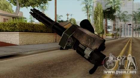 Gatling para GTA San Andreas segunda pantalla