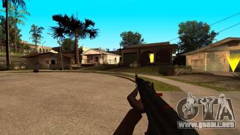 AK-47 de la Línea Roja de CS:GO para GTA San Andreas sucesivamente de pantalla