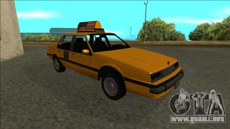 Willard Taxi para vista lateral GTA San Andreas