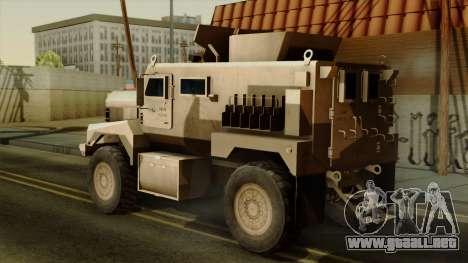 MRAP Cougar 4x4 para GTA San Andreas left
