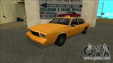Tahoma Taxi para GTA San Andreas