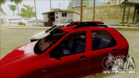 Fiat Palio EDX Turbo Rendimiento para GTA San Andreas vista posterior izquierda