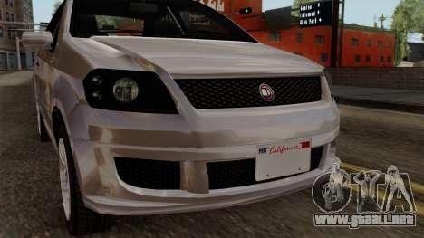 GTA 5 Declasse Asea para GTA San Andreas vista hacia atrás