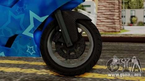 Bati VIP Star Motorcycle para GTA San Andreas vista posterior izquierda