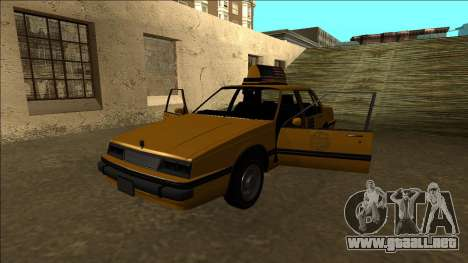 Willard Taxi para vista inferior GTA San Andreas