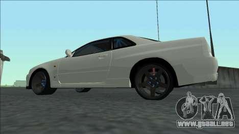 Nissan Skyline R34 Drift para visión interna GTA San Andreas
