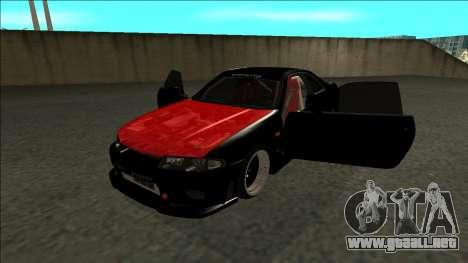 Nissan Skyline R33 Monster Energy para GTA San Andreas vista hacia atrás